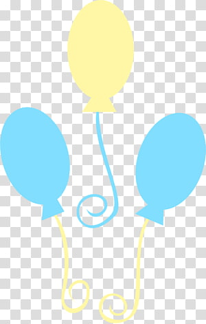 Pinkie Pie Cutie Mark, blue and yellow balloons transparent.