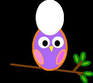 Pinkish Purple Owl Clip Art at Clker.com.