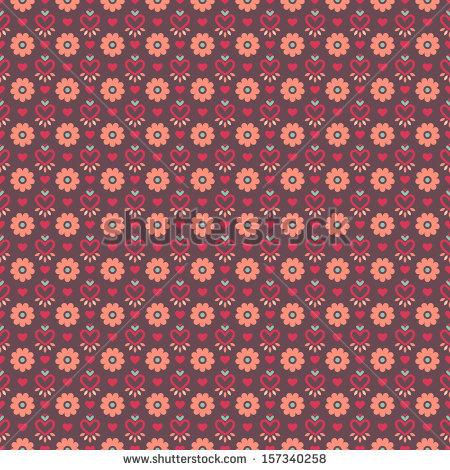 Pink Brown Vintage Flower Stock Vectors & Vector Clip Art.