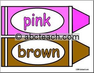 Brown color crayon clipart.