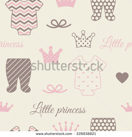 Baby Shower Invitation Template Pink Brown Stock Vector 225726415.