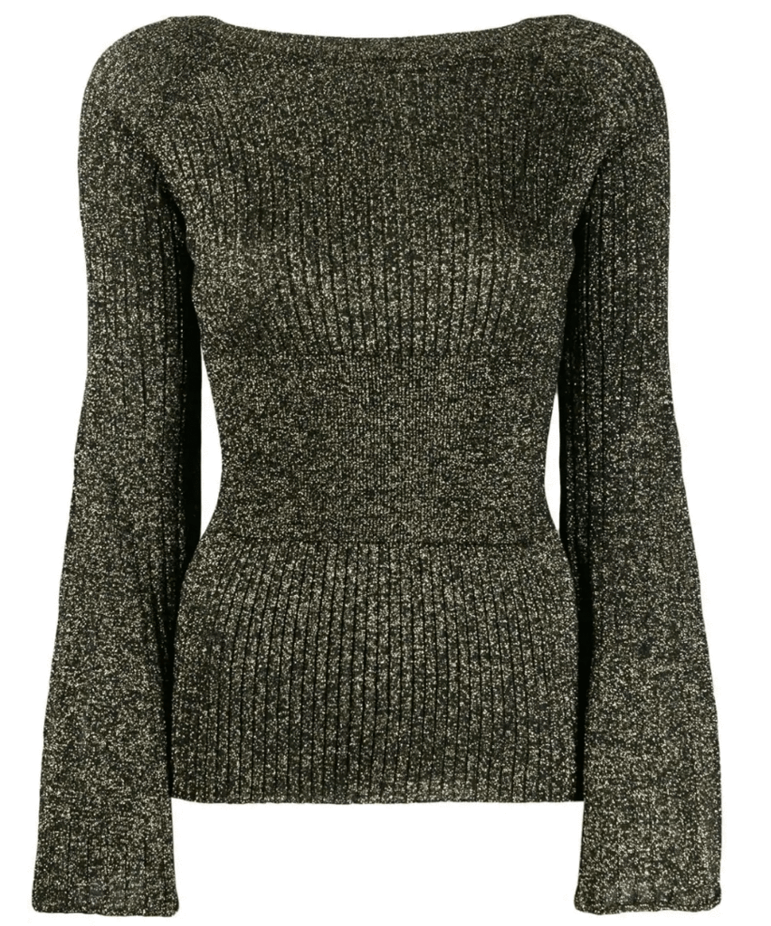 Lurex knitwear.
