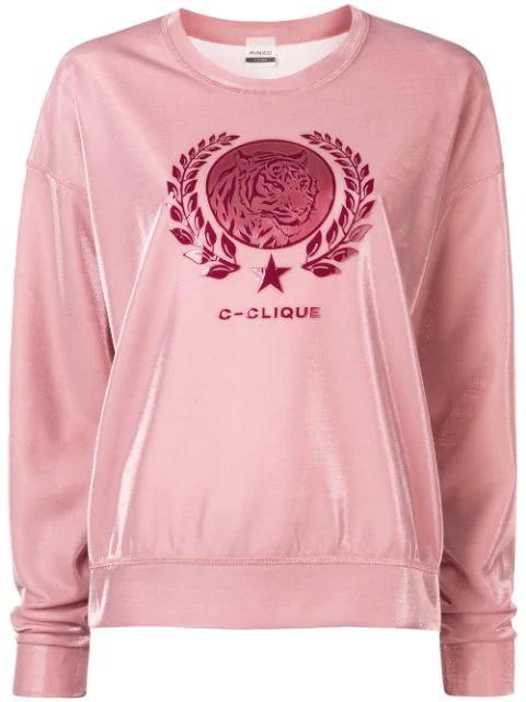 Logo Sheen Sweatshirt in Pink.