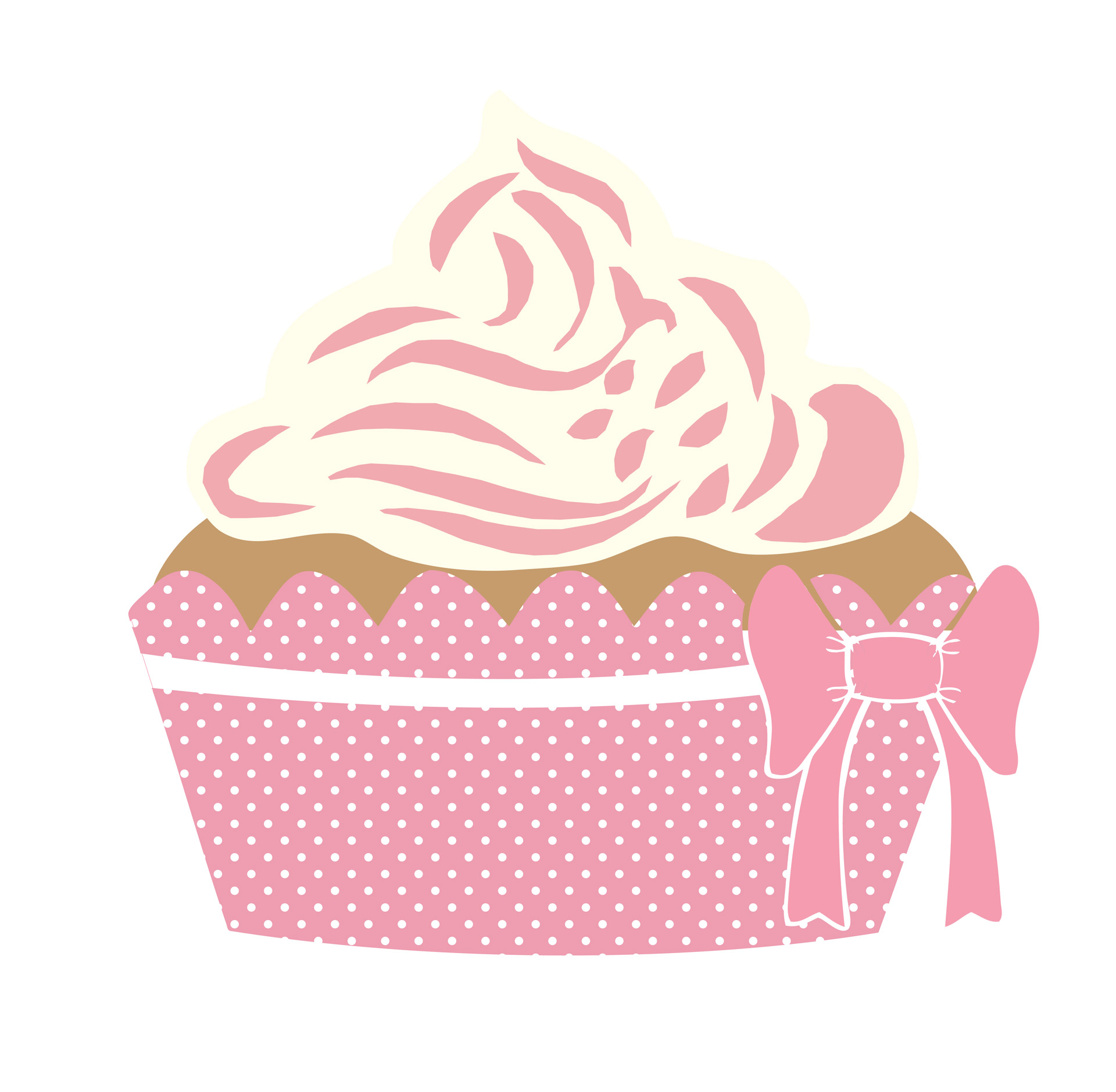 Cute Cupcake Pink Clipart Free Stock Photo.