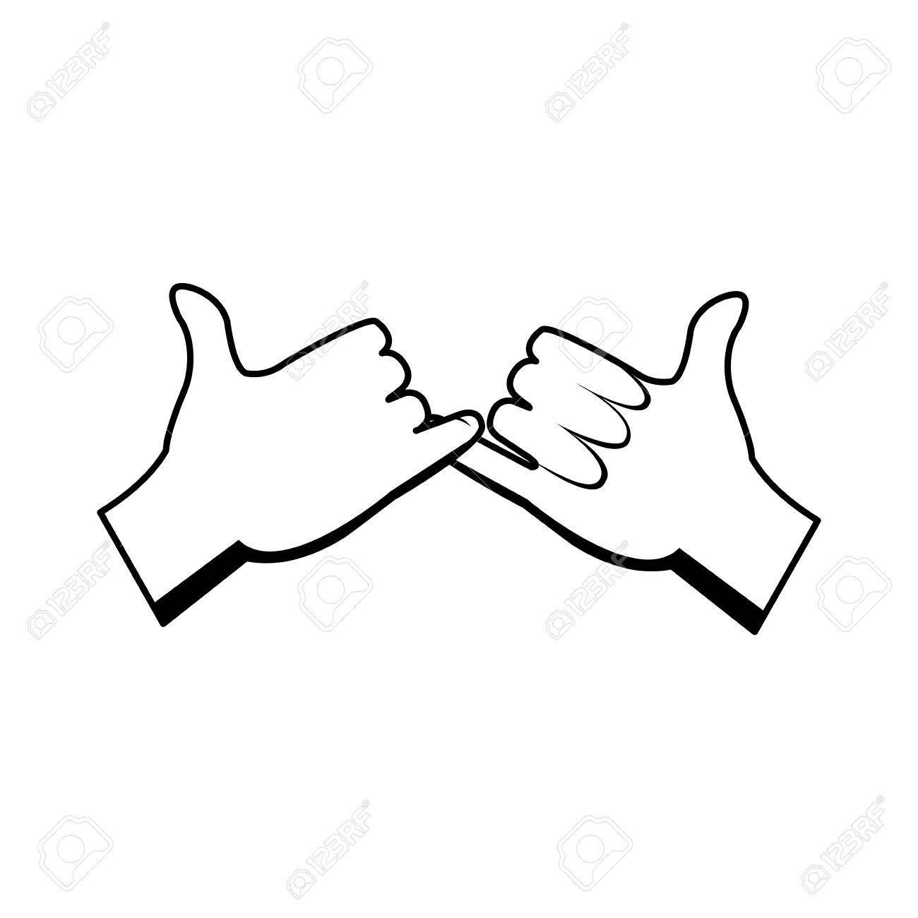 Cartoon hands pinky promise gesture image » Clipart Portal.