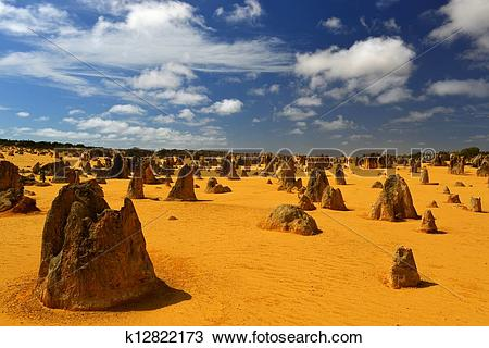 Stock Photo of Pinnacles Desert, Australia k12822173.