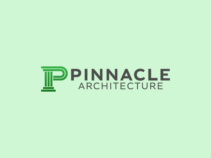 Pinnacle Architecture Logo by Rick Adams on Dribbble.