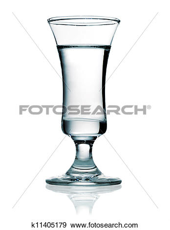 Stock Photograph of Vodka in a shot glass k11405179.