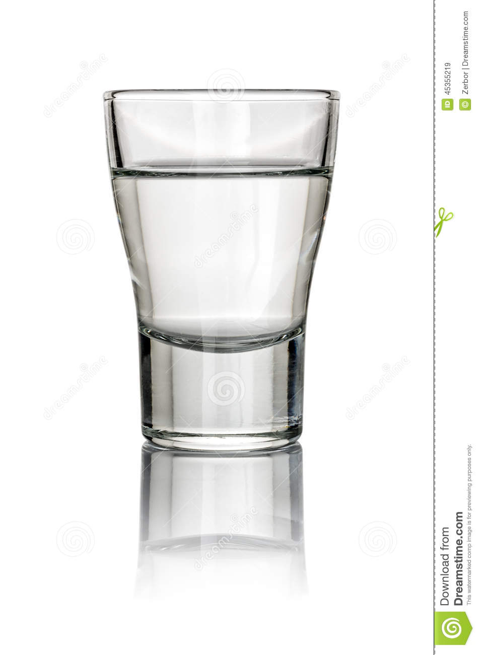 Filled Shot Glass Stock Photo.
