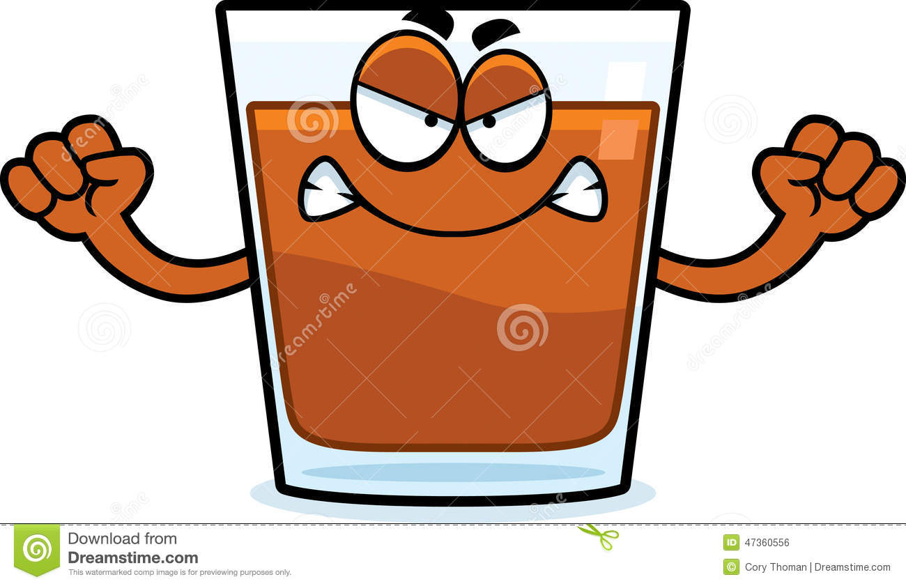Cartoon Shot Glass Hug Stock Vector.