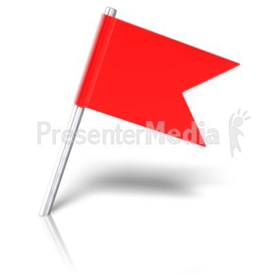 Flag Pin Angled.