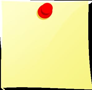 Note Pin Clip Art at Clker.com.