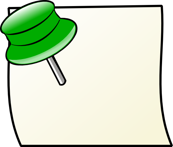 Gallery For > Pinned Note Clipart.