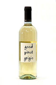 Pinot grigio wine clipart art.