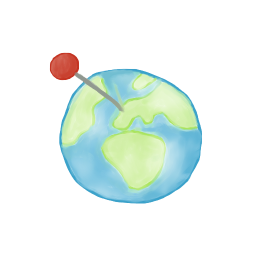 Globe Pinpoint Icon, PNG ClipArt Image.