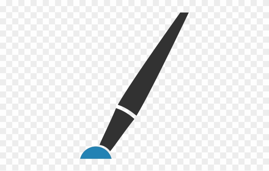 Paint Brush Clipart Icon.