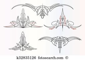 Pinstriping Clip Art Royalty Free. 775 pinstriping clipart vector.