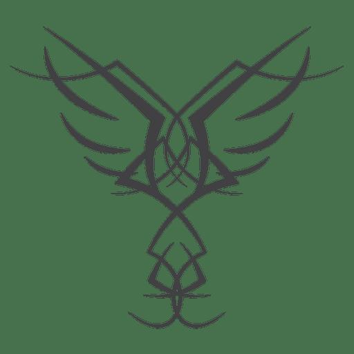 Line art pinstripe wing.