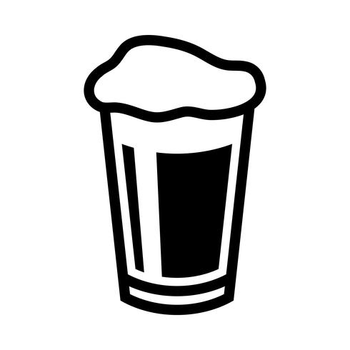 Beer Pint Glass Vector Icon.