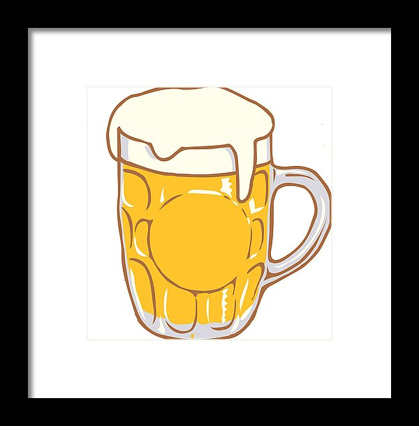 Beer Mug Pint Clipart Design Illustration Framed Print.