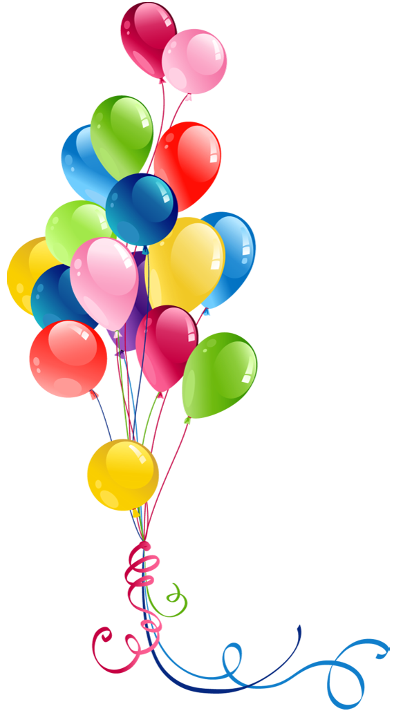 Transparent Bunch Balloons Clipart.