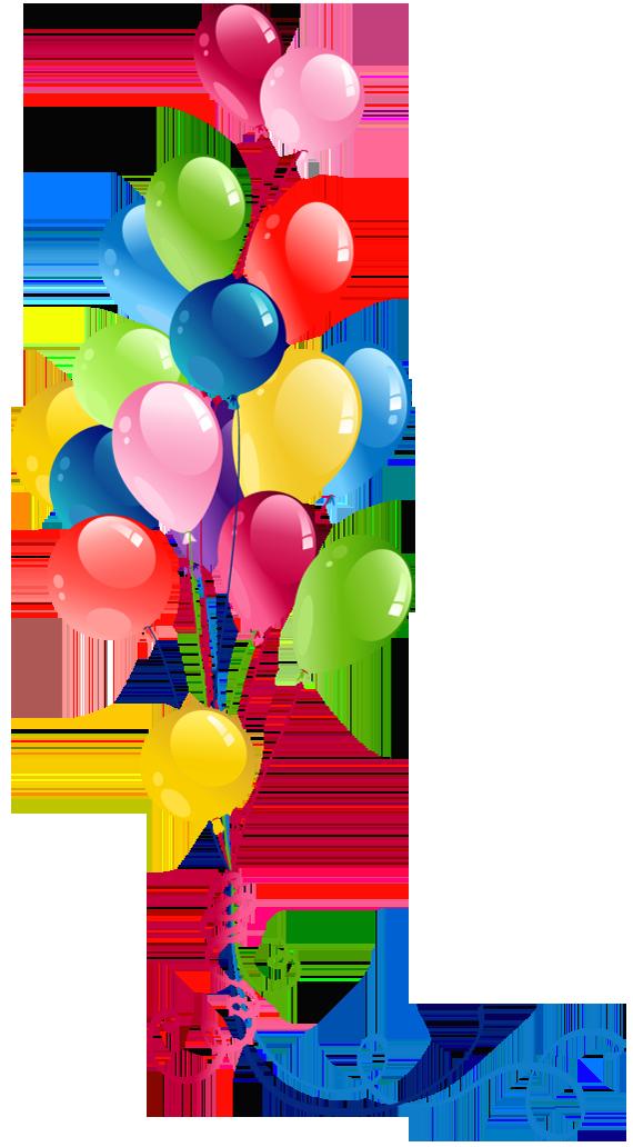 Transparent Bunch Balloons Clipart.