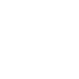 White pinterest 5 icon.