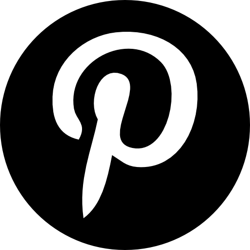 Pinterest logo circle Icons.