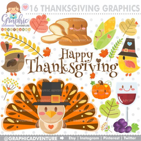 Thanksgiving Clipart, Thanksgiving Graphic, COMMERCIAL USE.