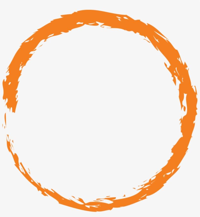 Orange Round Circle Paint Brush 1210526.