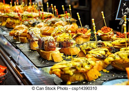 Stock Photography of Typical pintxo of Basque Country.