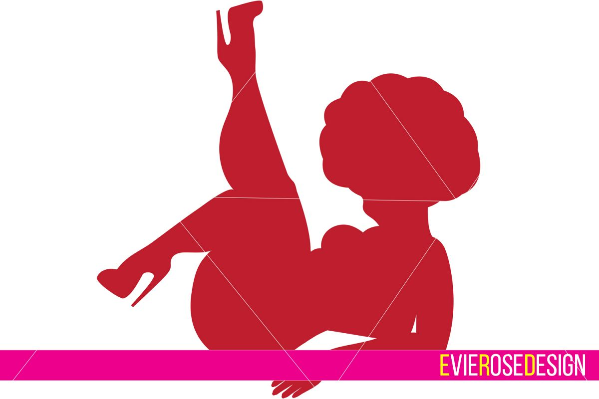 Chunky Pinup Clipart and Cut File Set.