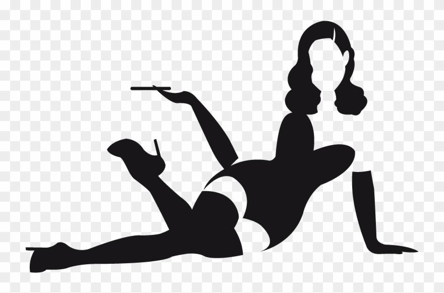 Girl Silhouette Clip Art.