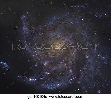 Stock Images of The Pinwheel Galaxy gen100104s.