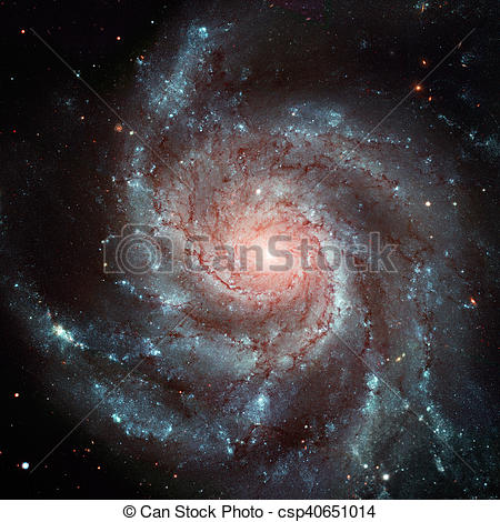 Stock Photography of Pinwheel Galaxy. Spiral galaxy in the.