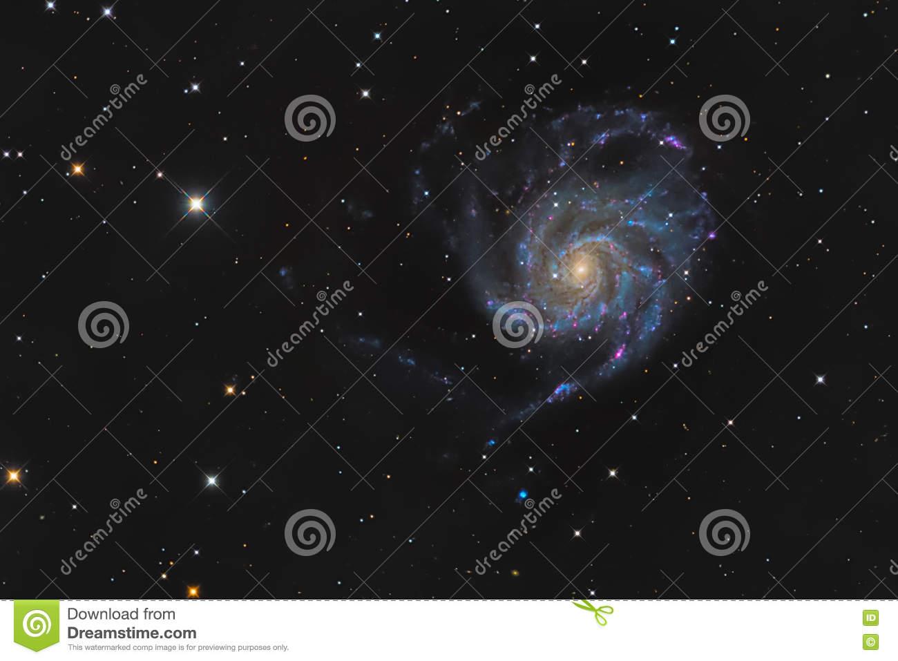 Messier 101 Or Pinwheel Galaxy In The Constellation Ursa Major.