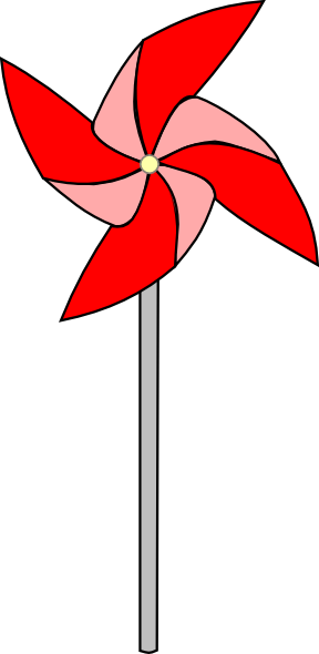 Red Pinwheel Clip Art at Clker.com.