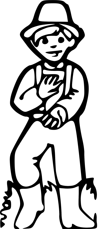 Pioneer Boy Clipart.