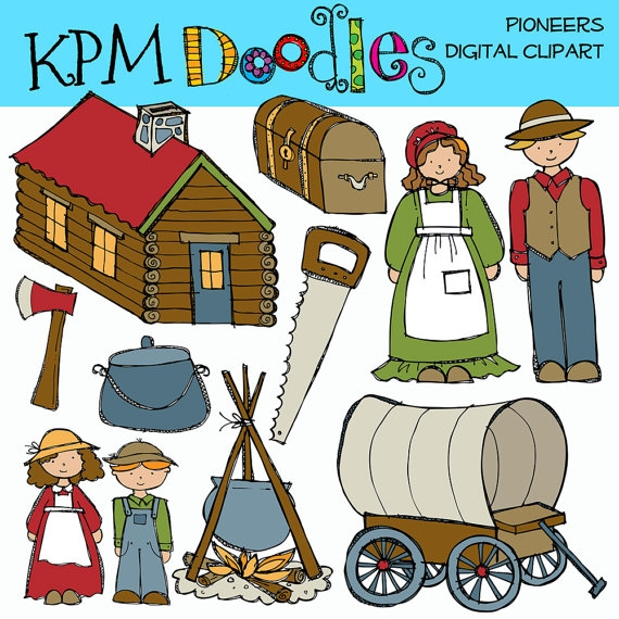 Pioneer Family Clipart.