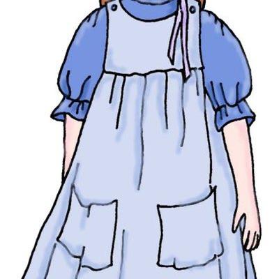 Pioneer Girl Clipart.