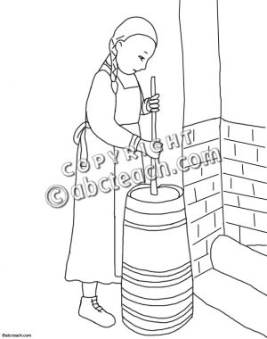Pioneer Girl Clipart.