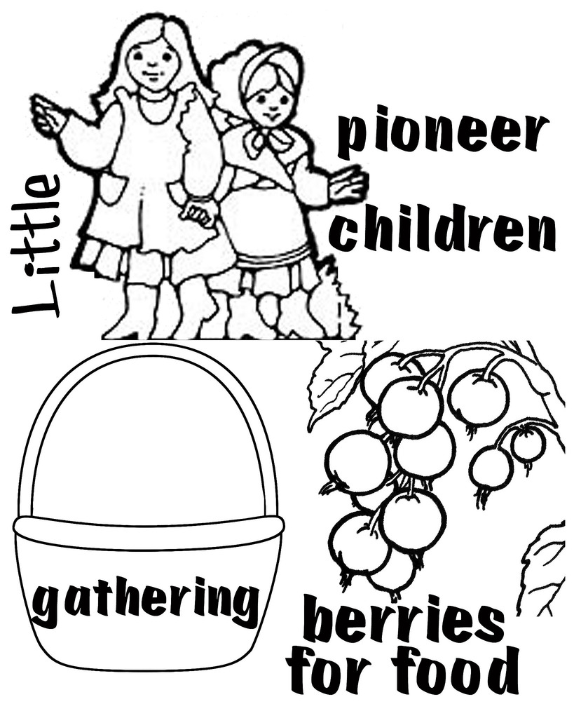 Pioneer Children Clipart.
