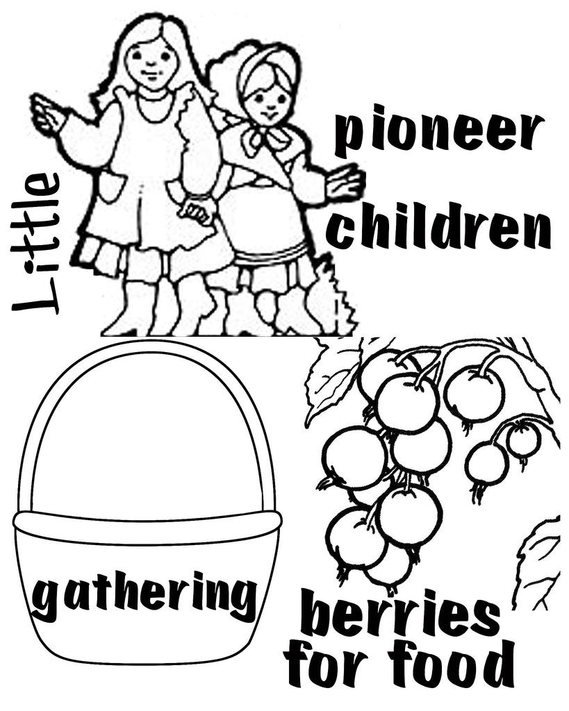 Pioneer Children Clipart.