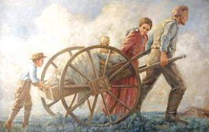 Free Pioneer Handcart Clipart.