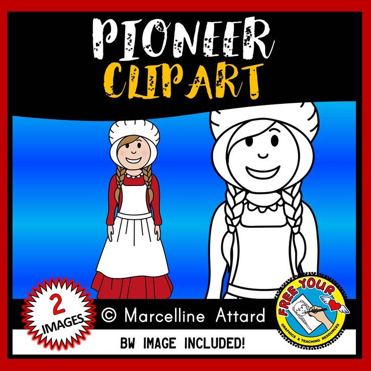 Pioneer clipart (westward expansion clipart).