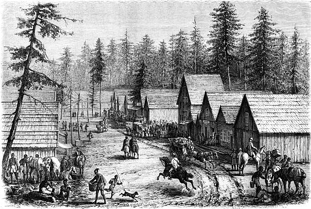 Pioneer Town Clip Art, Vector Images & Illustrations.