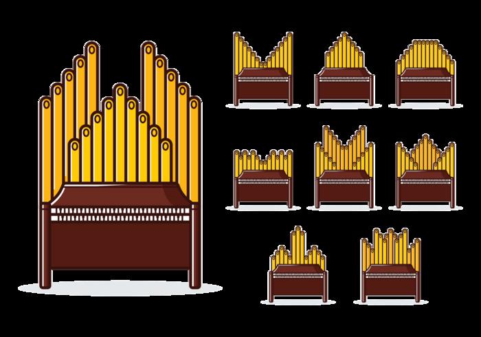 Pipe Organ Vector.