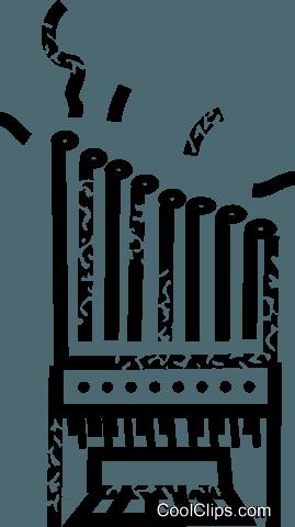pipe organ Royalty Free Vector Clip Art illustration.