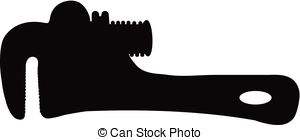 Clipart Vector of pipe wrench.