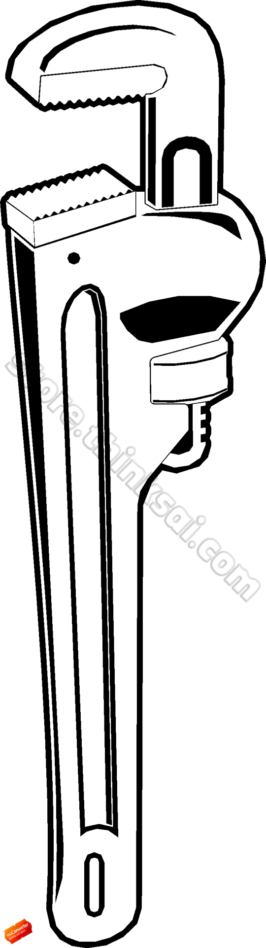 Plumbing Wrench Clipart.